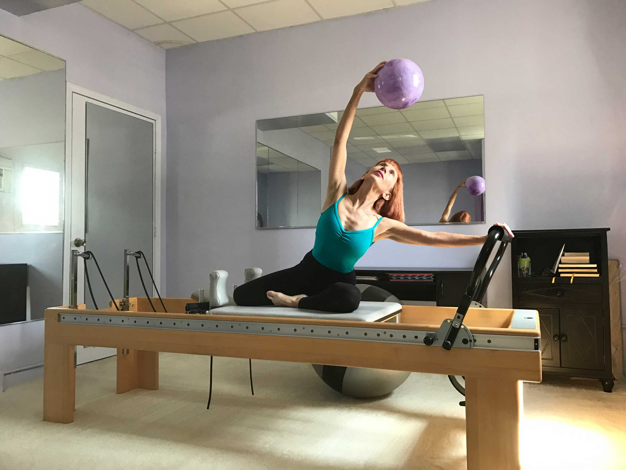 Patty Haft demonstrating use of the reformer